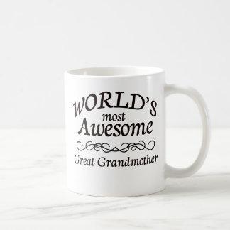 World's Most Awesome Great Grandmother Basic White Mug