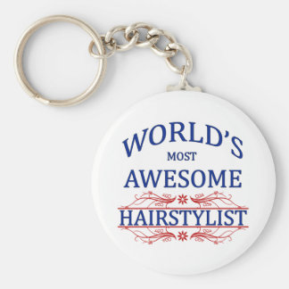 World's Most Awesome Hairstylist Keychain