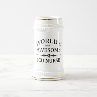 World's Most Awesome ICU Nurse Beer Stein