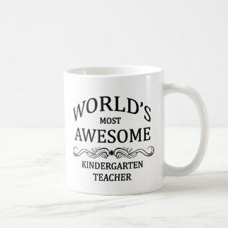 World's Most Awesome Kindergarten Teacher Coffee Mug