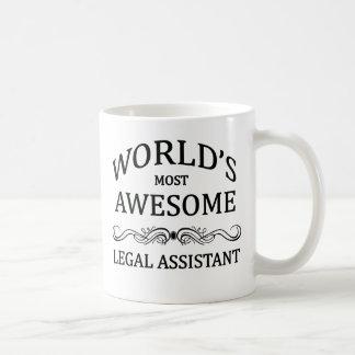 World's Most Awesome Legal Assistant Basic White Mug