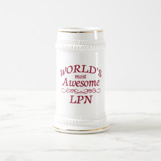 World's Most Awesome LPN 18 Oz Beer Stein