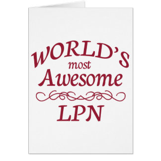 World's Most Awesome LPN Cards