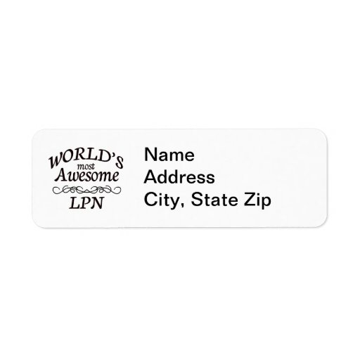 World's Most Awesome LPN Custom Return Address Labels