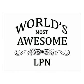 World's Most Awesome LPN Postcard
