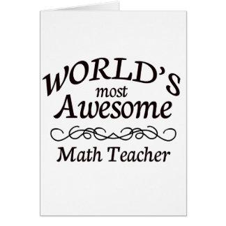 World's Most Awesome Math Teacher Card