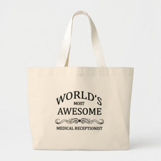 World's Most Awesome Medical Receptionist Jumbo Tote Bag