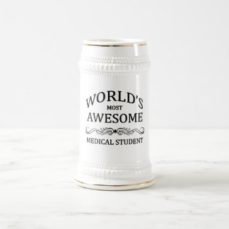 World's Most Awesome Medical Student 18 Oz Beer Stein