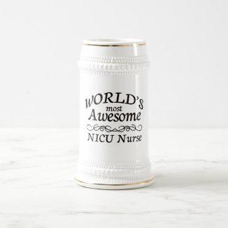 World's Most Awesome NICU Nurse 18 Oz Beer Stein