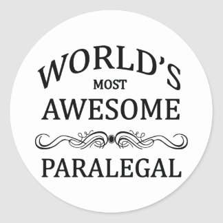 World's Most Awesome Paralegal Classic Round Sticker