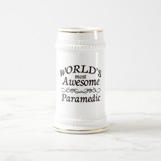World's Most Awesome Paramedic 18 Oz Beer Stein