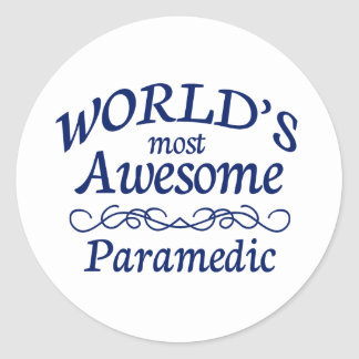 World's Most Awesome Paramedic Round Sticker