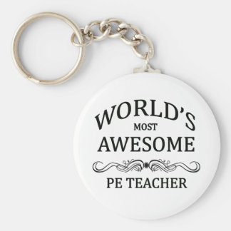 World's Most Awesome PE Teacher Keychain