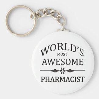 World's Most Awesome Pharmacist Basic Round Button Keychain