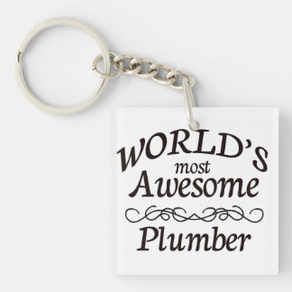 World's Most Awesome Plumber Keychain