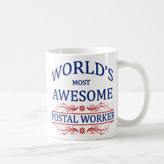 World's Most Awesome Postal Worker Coffee Mug