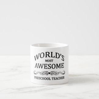 World's Most Awesome Preschool Teacher Espresso Mug