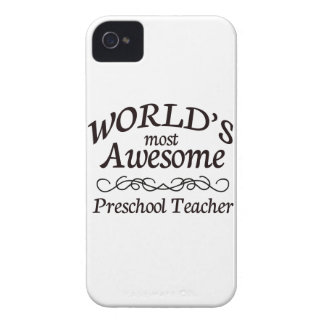 World's Most Awesome Preschool Teacher iPhone 4 Cases