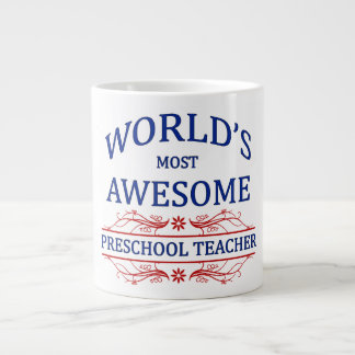 World's Most Awesome Preschool Teacher Jumbo Mug