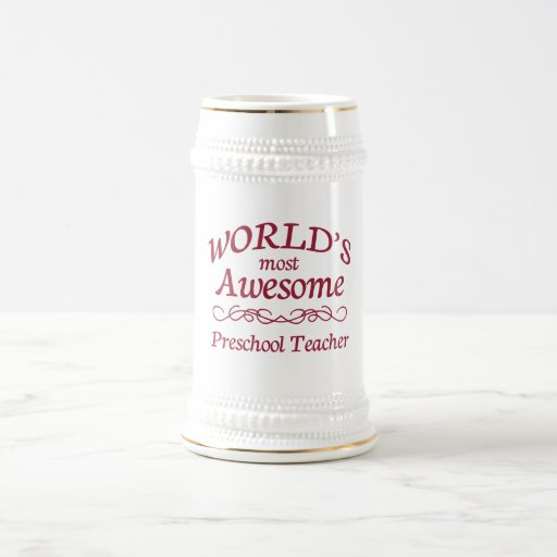 World's Most Awesome Preschool Teacher Coffee Mugs