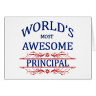 World's Most Awesome Principal Card