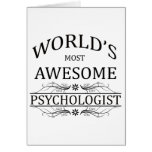 World's Most Awesome Psychologist Greeting Cards