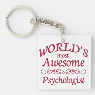 World's Most Awesome Psychologist Keychain