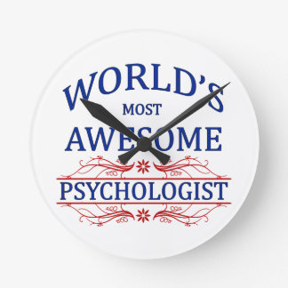World's Most Awesome Psychologist Round Clock