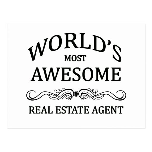 World's Most Awesome Real Estate Agent Post Cards