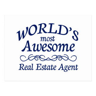 World's Most Awesome Real Estate Agent Postcard