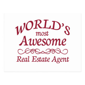 World's Most Awesome Real Estate Agent Post Card
