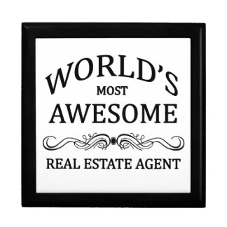 World's Most Awesome Real Estate Agent Trinket Boxes