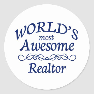 World's Most Awesome Reator Round Sticker
