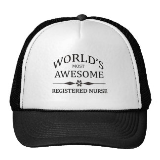 World's Most Awesome Registered Nurse Trucker Hat