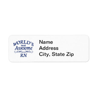 World's Most Awesome RN Return Address Label