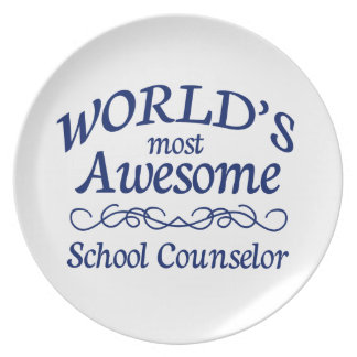 World's Most Awesome School Counselor Party Plate