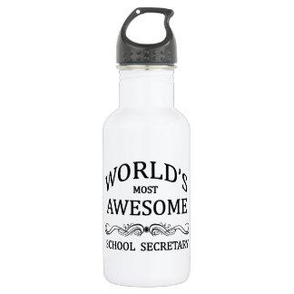 World's Most Awesome School Secretary 18oz Water Bottle