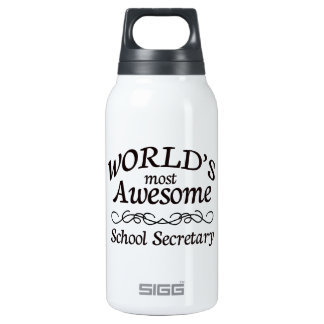 World's Most Awesome School Secretary SIGG Thermo 0.3L Insulated Bottle