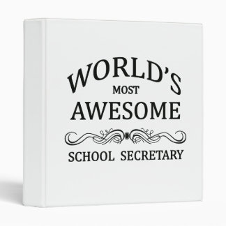 World's Most Awesome School Secretary Vinyl Binders