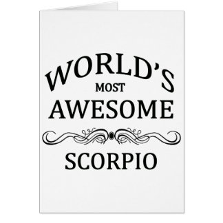 World's Most Awesome Scorpio Card