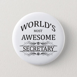 World's Most Awesome Secretary 2 Inch Round Button