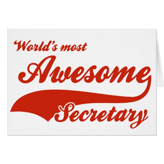 World's Most Awesome secretary Card