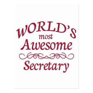 World's Most Awesome Secretary Postcard