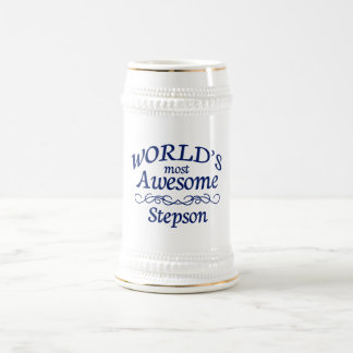 World's Most Awesome Stepson 18 Oz Beer Stein