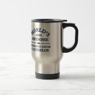 World's most awesome substance abuse counselor travel mug