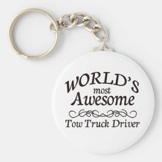 World's Most Awesome Tow Truck Driver Keychain
