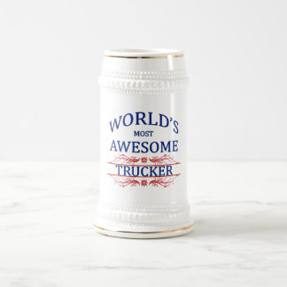 World's Most Awesome Trucker Beer Steins
