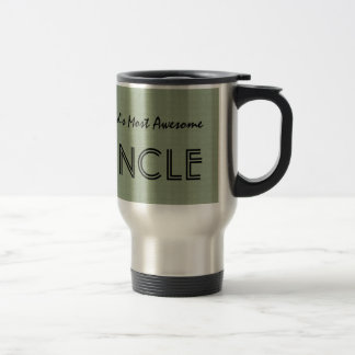 World's Most Awesome UNCLE Clay Squares Pattern Travel Mug
