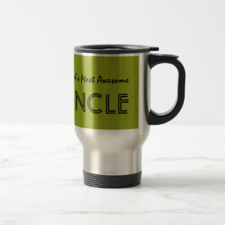 Worlds Most Awesome Uncle Olive Custom Name V02 Travel Mug