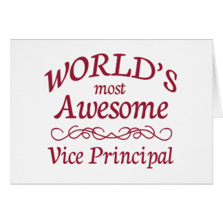 World's Most Awesome Vice Principal Card